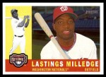 2009 Topps Heritage #99  Lastings Milledge  Front Thumbnail