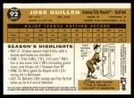 2009 Topps Heritage #92  Jose Guillen  Back Thumbnail