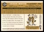 2009 Topps Heritage #124  Jason Motte  Back Thumbnail