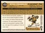 2009 Topps Heritage #195  Ryan Franklin  Back Thumbnail