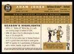 2009 Topps Heritage #53  Adam Jones  Back Thumbnail