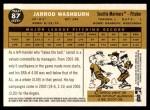 2009 Topps Heritage #87  Jarrod Washburn  Back Thumbnail