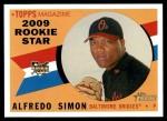 2009 Topps Heritage #126  Alfredo Simon  Front Thumbnail