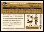 2009 Topps Heritage #126  Alfredo Simon  Back Thumbnail
