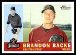 2009 Topps Heritage #46  Brandon Backe  Front Thumbnail