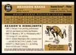 2009 Topps Heritage #46  Brandon Backe  Back Thumbnail