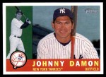 2009 Topps Heritage #163  Johnny Damon  Front Thumbnail