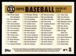 2009 Topps Heritage #151   Giants Team Checklist Back Thumbnail