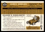 2009 Topps Heritage #376  James Shields  Back Thumbnail