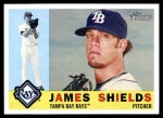 2009 Topps Heritage #376  James Shields  Front Thumbnail