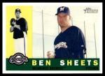 2009 Topps Heritage #351  Ben Sheets  Front Thumbnail