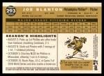 2009 Topps Heritage #293  Joe Blanton  Back Thumbnail