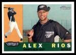 2009 Topps Heritage #273  Alex Rios  Front Thumbnail