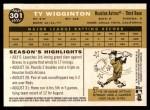 2009 Topps Heritage #301  Ty Wigginton  Back Thumbnail