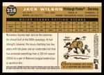 2009 Topps Heritage #258  Jack Wilson  Back Thumbnail