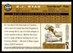 2009 Topps Heritage #369  B.J. Ryan  Back Thumbnail