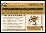 2009 Topps Heritage #340  Ian Snell  Back Thumbnail