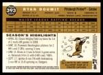 2009 Topps Heritage #393  Ryan Doumit  Back Thumbnail