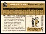 2009 Topps Heritage #241  Corey Hart  Back Thumbnail