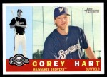 2009 Topps Heritage #241  Corey Hart  Front Thumbnail