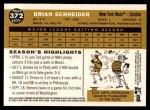 2009 Topps Heritage #372  Brian Schneider  Back Thumbnail