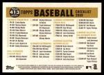 2009 Topps Heritage #413   Royals Team Checklist Back Thumbnail