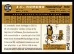 2009 Topps Heritage #416  J.C. Romero  Back Thumbnail