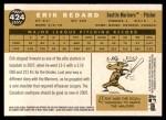2009 Topps Heritage #424  Erik Bedard  Back Thumbnail
