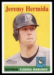 2007 Topps Heritage #182  Jeremy Hermida  Front Thumbnail