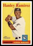 2007 Topps Heritage #108 YT Hanley Ramirez   Front Thumbnail