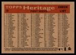 2007 Topps Heritage #19   San Francisco Giants Team Back Thumbnail