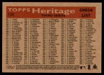 2007 Topps Heritage #174   Oakland Athletics Team Back Thumbnail