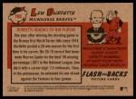2007 Topps Heritage Flashbacks #6 F Lew Burdette  Back Thumbnail