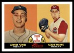 2007 Topps Heritage Then & Now #6 TN Johnny Podres / Aaron Harang  Front Thumbnail