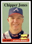 2007 Topps Heritage #440  Chipper Jones  Front Thumbnail