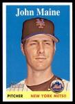 2007 Topps Heritage #457  John Maine  Front Thumbnail