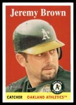 2007 Topps Heritage #470  Jeremy Brown  Front Thumbnail