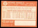 1964 Topps #587  Bennie Daniels  Back Thumbnail