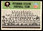 1965 Philadelphia #141   Steelers Team Front Thumbnail