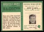1966 Philadelphia #119  Roosevelt Brown  Back Thumbnail