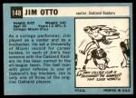 1964 Topps #148  Jim Otto  Back Thumbnail