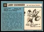 1964 Topps #8  Larry Eisenhauer  Back Thumbnail