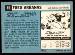 1964 Topps #89  Fred Arbanas  Back Thumbnail