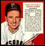 1953 Red Man #15 NL x Ralph Kiner  Front Thumbnail