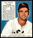 1952 Red Man #16 AL Billy Pierce  Front Thumbnail