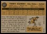 1960 Topps #541  Tony Curry  Back Thumbnail