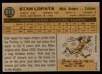 1960 Topps #515  Stan Lopata  Back Thumbnail
