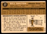 1960 Topps #37  Bill Bruton  Back Thumbnail