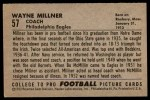 1952 Bowman Small #57  Wayne Millner  Back Thumbnail