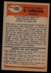 1955 Bowman #102  Al Carmichael  Back Thumbnail